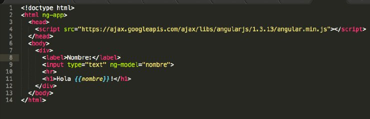 Data Binding Aplicaciones con AngularJS